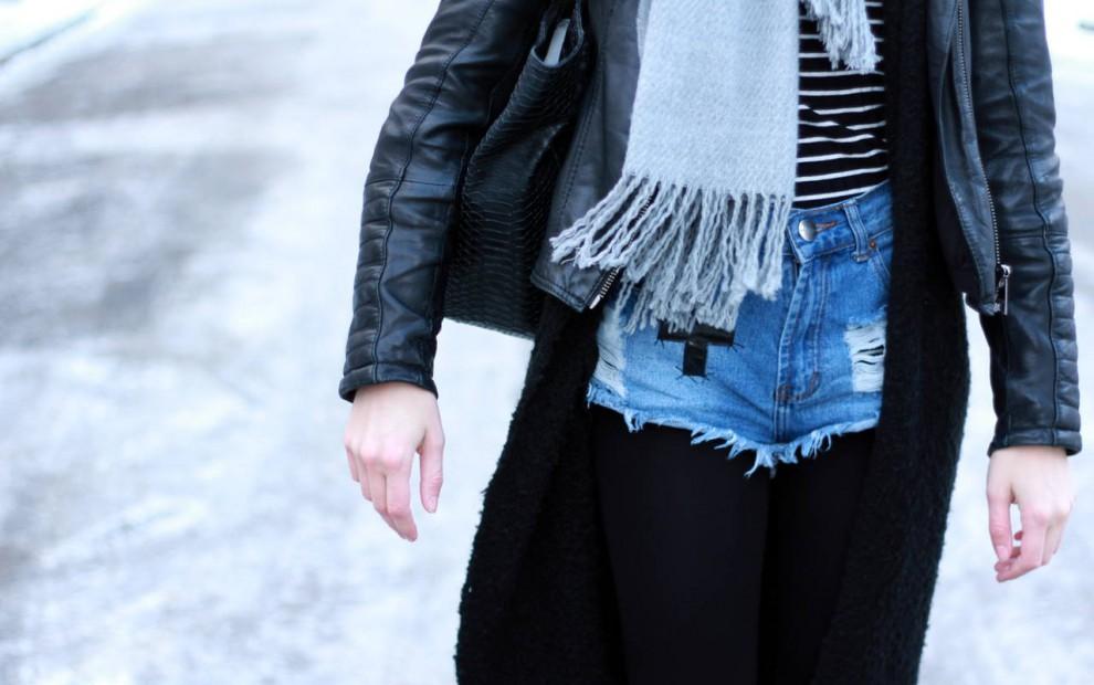Fashion Week Berlin – Outfit: Denim Shorts und Dr. Martens