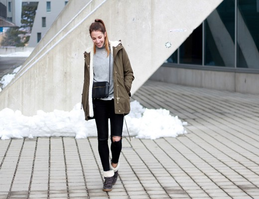 Liebreizend Ripped Black Skinny Jeans Outfit