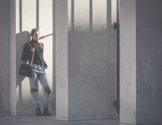 Netzstrumpfhose unter Jeans, Trend, Rollkragenpullover, Turtleneck, Dr. Martens, Fashionblog Österreich, Modeblog Tirol