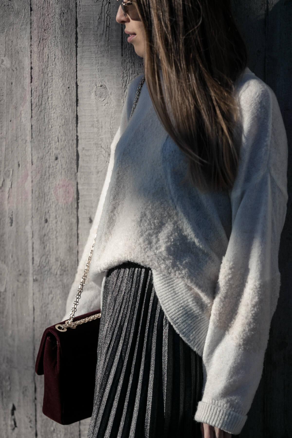 großer Lagerverkauf Offizieller Lieferant elegant und anmutig Gedankenchaos und Metallic Plissee Rock Outfit - LIEBREIZEND
