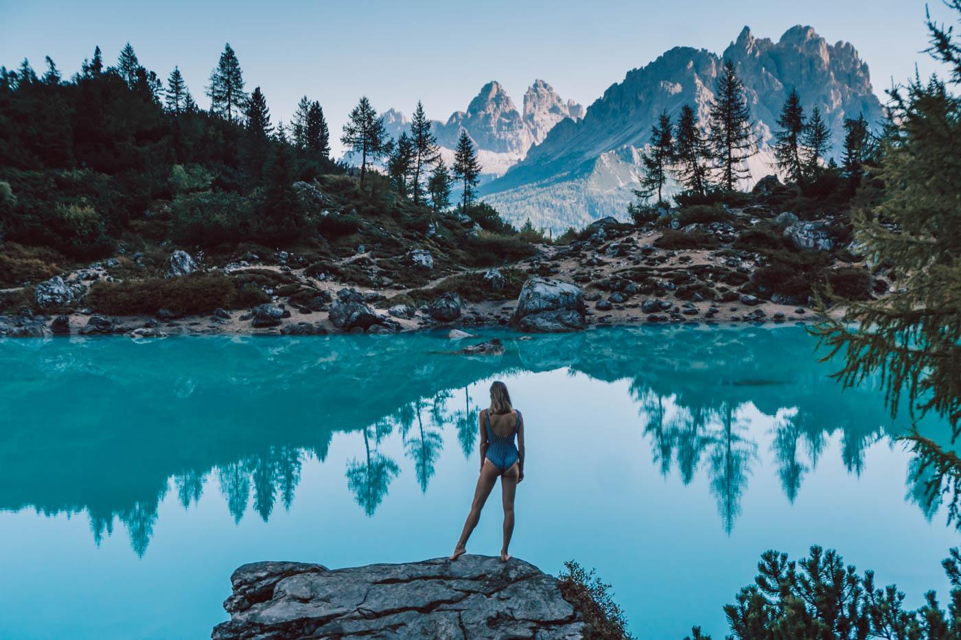 Wandern: Der Lago di Sorapis in Südtirol