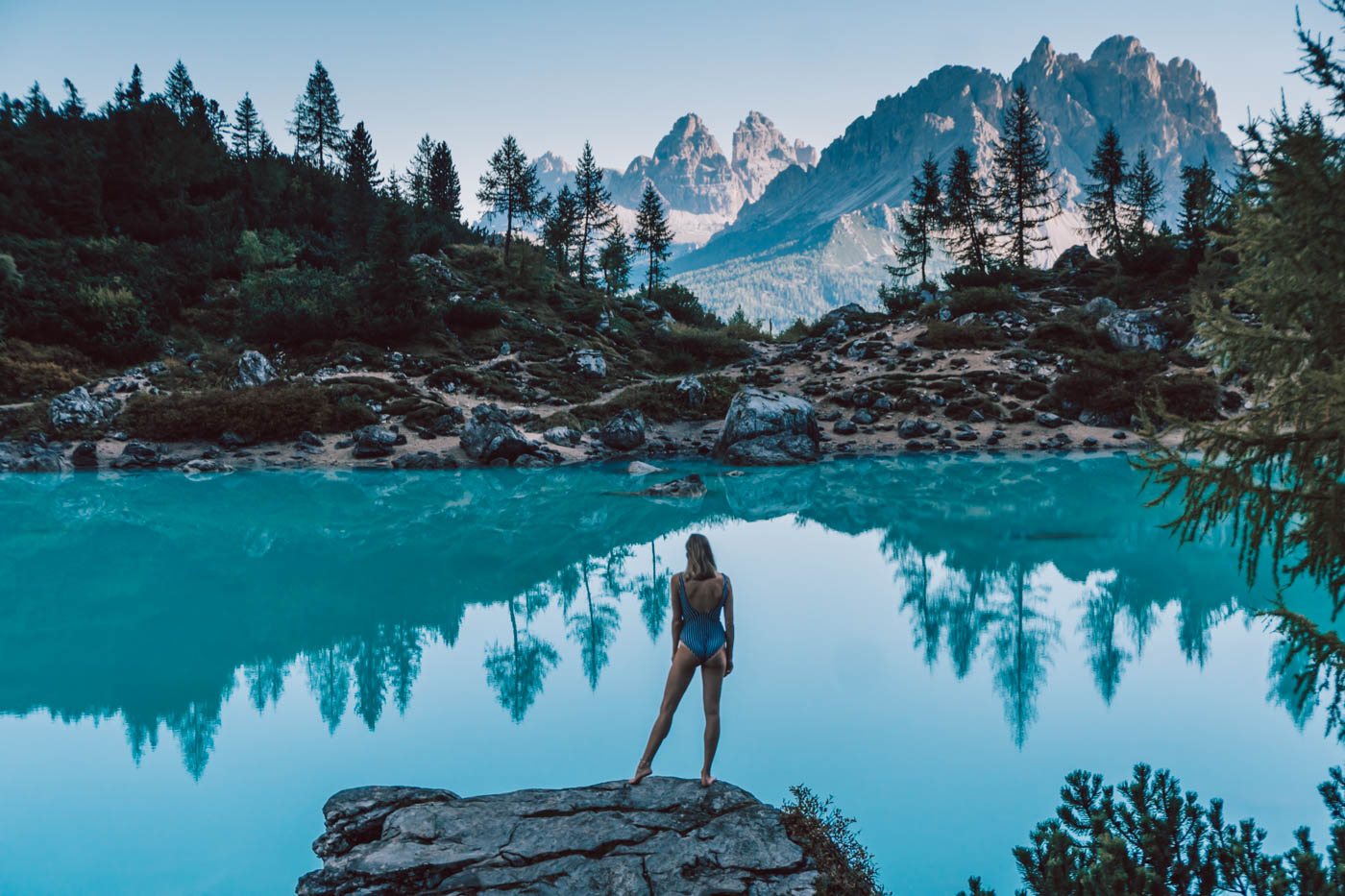 Wandern: Der Lago di Sorapis in Italien