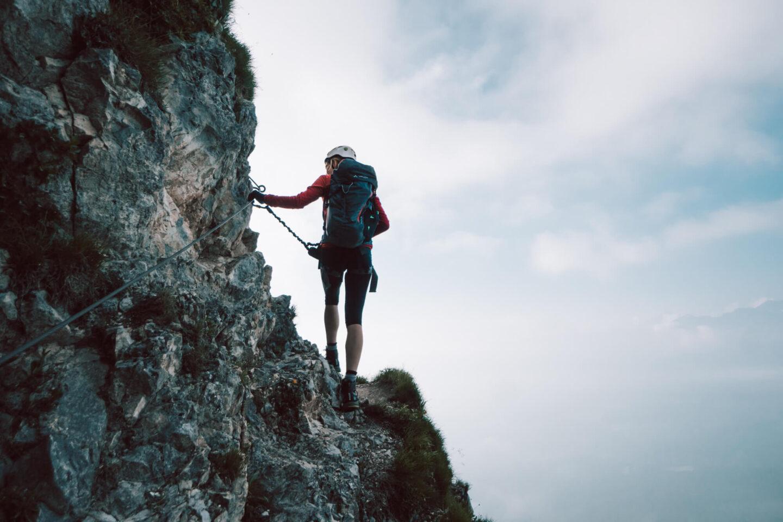 Wandern in der Schweiz: Klettersteig Pinut in Flims/Laax