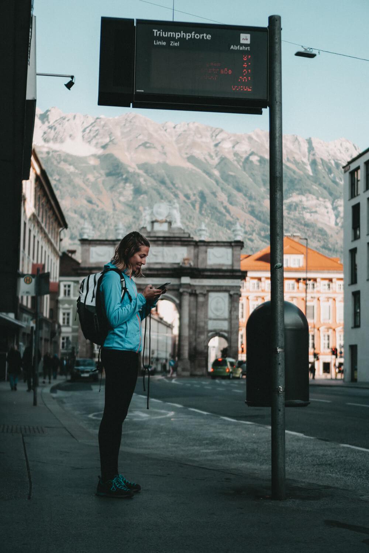 Abfahrt in Innsbruck mit dem Regiobus
