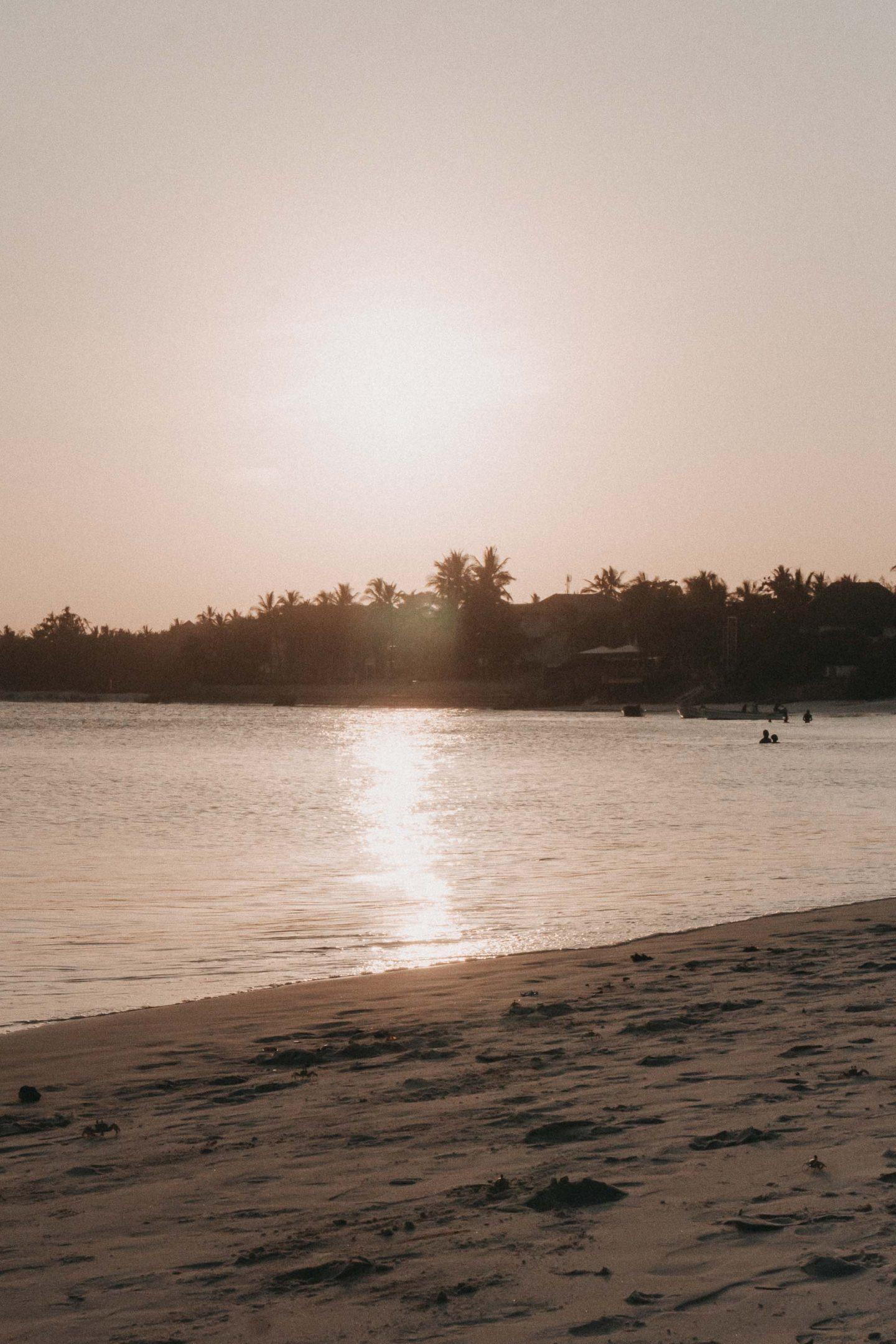 Watamu Beach im Sonnenuntergang